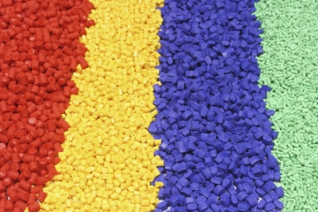 Distributor of pigments for plastic
